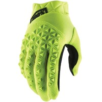 100% Airmatic Youth Gloves Fluro Yellow/Black