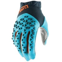 100% Airmatic Gloves Steel Grey/Ice Blue