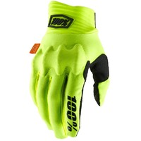 100% Cognito Gloves Fluro Yellow/Black