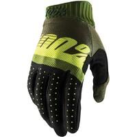 100% Ridefit Gloves Army Green/Fluro Green
