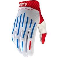 100% Ridefit Gloves Red/White/Blue