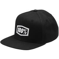 100% Corpo Youth Snapback Hat Black/White