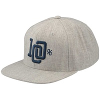 100% College Snapback Hat Grey Heather