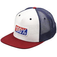 100% Americana Trucker Hat White