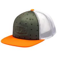 100% Stamped Trucker Hat Orange