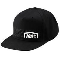100% Nemesis Youth Snapback Hat Black
