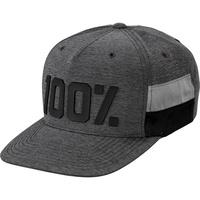 100% Frontier Snapback Hat Grey Heather