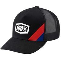 100% Cornerstone Trucker X-Fit Hat Black