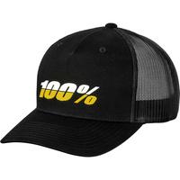 100% League Snapback X-Fit Hat Black