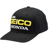100% East Flexfit Geico/Honda Black