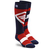 100% Torque Comfort Moto Socks Red