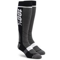 100% Hi Side Performance Moto Socks Black