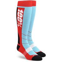 100% Hi Side Performance Moto Socks Red