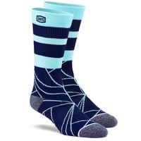 100% Fracture Athlete Socks Navy