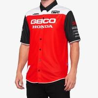 100% Blitz GEICO/Honda Pit Shirt Red