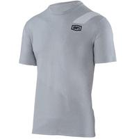 100% Slant Tech T-Shirt Silver