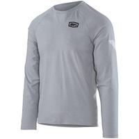 100% Meter Long Sleeve Tech T-Shirt Silver
