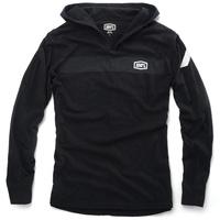 100% Gravel Hoodie Sweatshirt Black