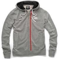 100% Drew Zip-Up Hoodie Sweatshirt Grey