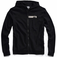 100% Chamber Zip-Up Hoodie Sweatshirt Black