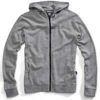 100% Chamber Zip-Up Hoodie Sweatshirt Grey