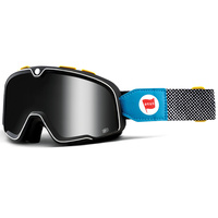 100% Barstow Classic Goggles DEUS-17 w/Silver Mirror Lens