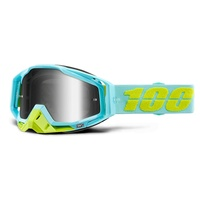100% Racecraft Goggles Pinacles w/Silver Mirror Lens