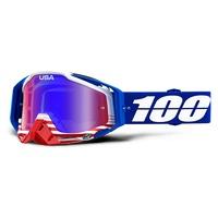 100% Racecraft Goggles Anthem w/Red/Blue Mirror Lens