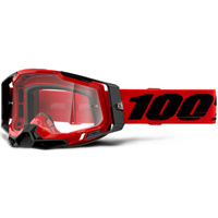 100% Racecraft2 Goggles Red w/Clear Lens