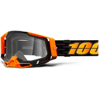 100% Racecraft2 Goggles Costume 2 w/Clear Lens