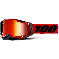 100% Racecraft2 Goggles Red w/Mirror Red Lens