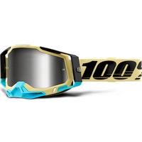 100% Racecraft2 Goggles Airblast w/Mirror Silver Lens