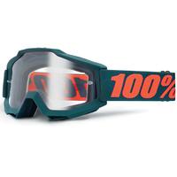 100% Accuri Goggles Gunmetal w/Clear Lens