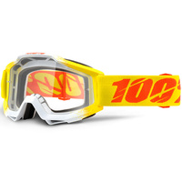 100% Accuri Goggles Zest w/Clear Lens