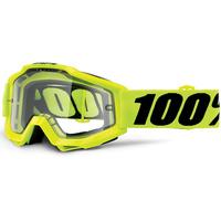 100% Accuri OTG Goggles Fluro Yellow w/Clear Lens