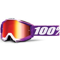 100% Accuri Goggles Framboise w/Mirror Red Lens