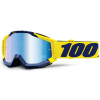 100% Accuri Goggles Supply w/Mirror Blue Lens
