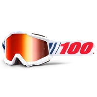 100% Accuri Goggles AF066 w/Mirror Red Lens