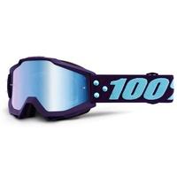100% Accuri Goggles Maneuver w/Mirror Blue Lens
