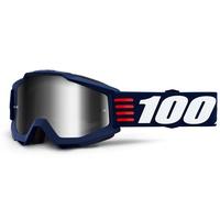 100% Accuri Goggles Art Deco w/Mirror Silver Lens