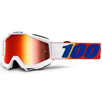 100% Accuri Goggles Minima w/Mirror Red Lens