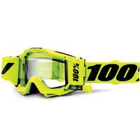 100% Accuri Forecast Goggles w/Clear Film System Fluro Yellow/Black
