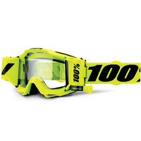 100% Accuri Forecast Goggles w/45mm Roll-Off System Fluro Yellow w/Clear Lens