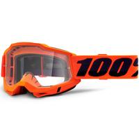 100% Accuri2 Goggle Orange w/Clear Lens