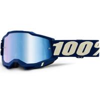 100% Accuri2 Goggle Deepmarine w/Mirror Blue Lens