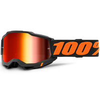 100% Accuri2 Goggle Chicago w/Mirror Red Lens