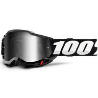 100% Accuri2 Goggle Black w/Mirror Silver Lens