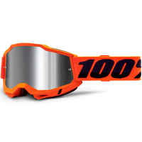 100% Accuri2 Goggle Orange w/Mirror Silver Lens