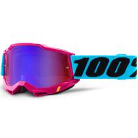 100% Accuri2 Goggle Lefleur w/Mirror Red/Blue Lens