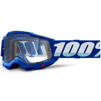 100% Accuri2 Enduro Moto Goggle Blue w/Clear Lens